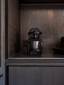 Detail stalen koffiecorner