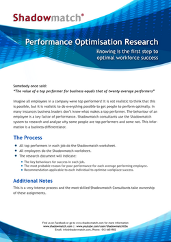 Performance Optimisation Research