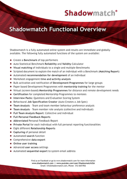 Shadowmatch Functional Overview