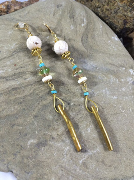 White turquoise, blue turquoise and gold