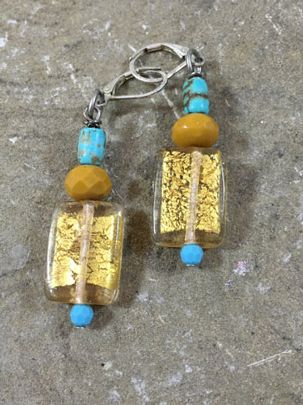 Golden lights and turquoise together