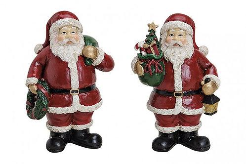 Babbo Natale con corona o albero 9 cm, resina