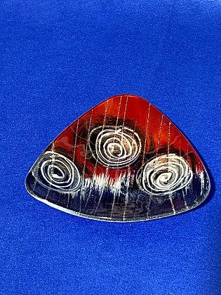 Vassoio triangolare disegno rosso