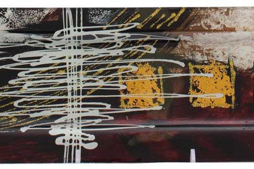 Vassoio rettangolare con riquadri oro 40 cm