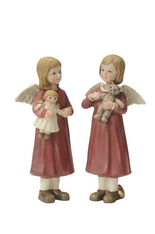 Angeli rossi 16 cm, resina