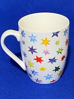 Tazza con stelle colorate, 10 cm