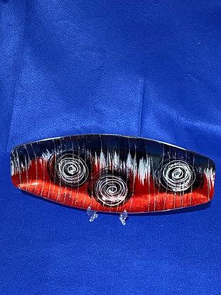 Vassoio ovale disegno rosso
