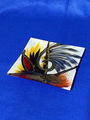 Vassoio quadrato disegno oro