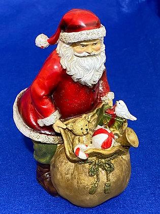 Babbo Natale con sacco, 13 cm