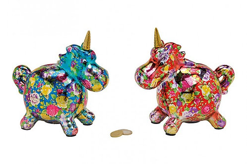 Salvadanaio Unicorno a colori 16 cm