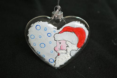 Medaglione cuore con Babbo Natale