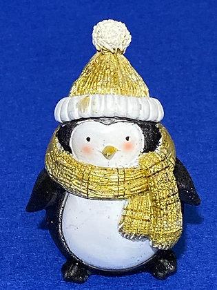 Pinguino nero e oro, 9,5 cm