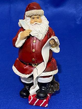 Babbo Natale con pergamena, 21 cm
