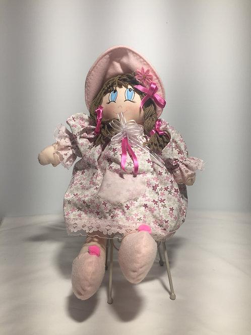 Bambola di pezza, stelline rosa, 40 cm