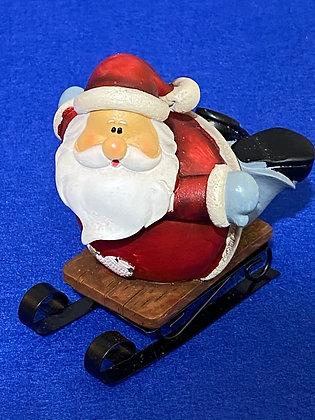 Babbo Natale su slitta, 10 cm