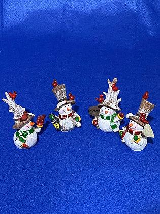 Pupazzi di neve con tuba, 8 cm