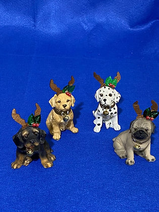 Cani natalizi, 5 cm