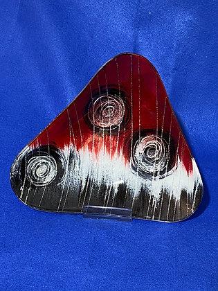 Vassoio triangolare grande disegno rosso