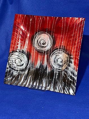 Vassoio rettangolare disegno rosso