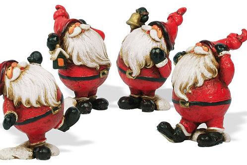 Babbo Natale barba lunga 9 cm, resina