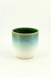 Vaso cilindrico smaltato 15 cm