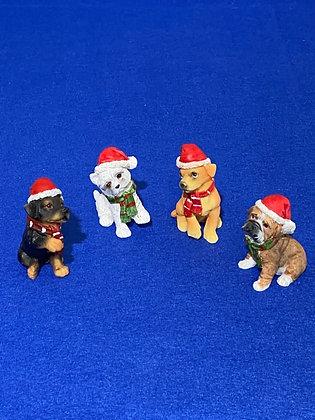 Cani piccoli con cappello rosso, 3 cm