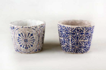 Vasetto per piante decorato, 10 cm