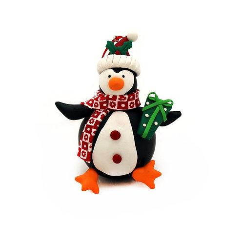 Pinguino in fimo 10 cm