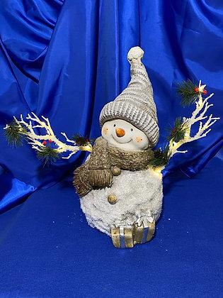 Pupazzo di neve con rami luminosi, 40  cm