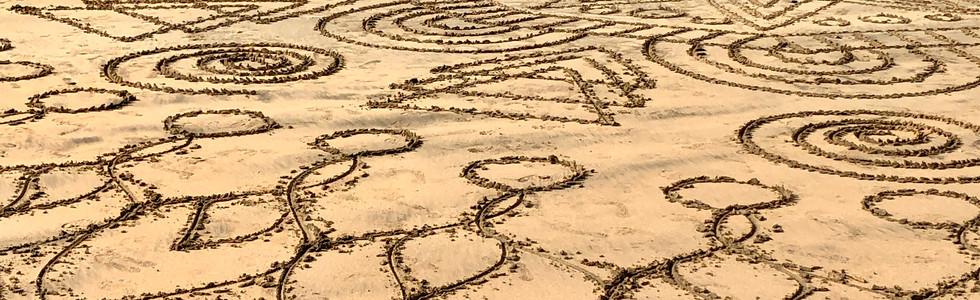 Beautiful Sand Drawing
