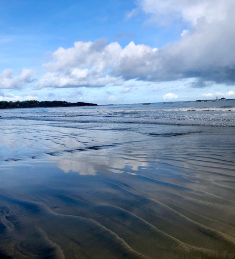 Blue Beach Morning Reflections