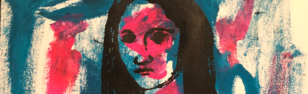Mona, pink/turquoise