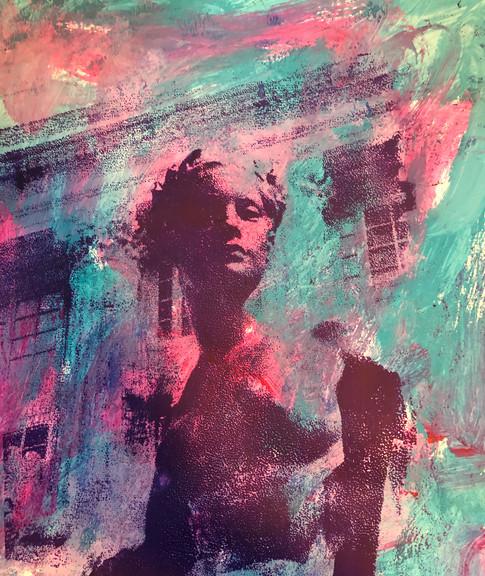 liberty, aqua/pink