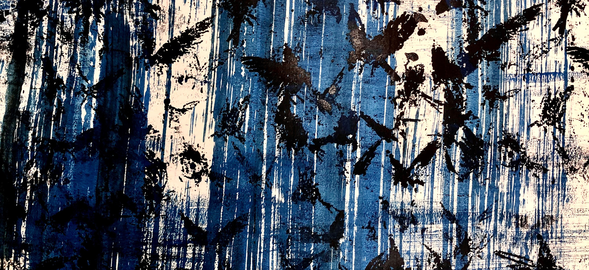 Bird Flock, Blue Stripes