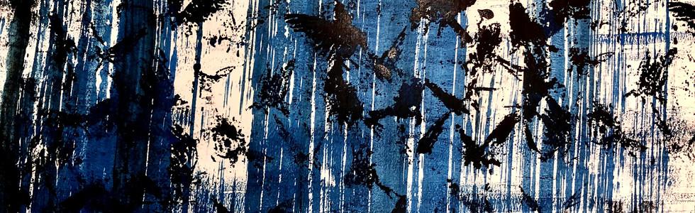 Bird Flock, Blue Stripes