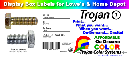 On-Demand Label Printing - Carton Labels