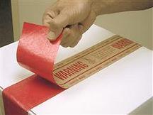 Custom Printed Tamper Red Tape