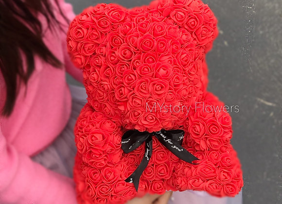 Rose Synthetic Bear MYstory Red