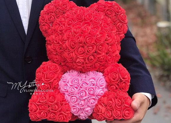 Rose Synthetic Bear MYstory Heart