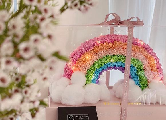Rose Synthetic-Rainbow(Acrylic Box)