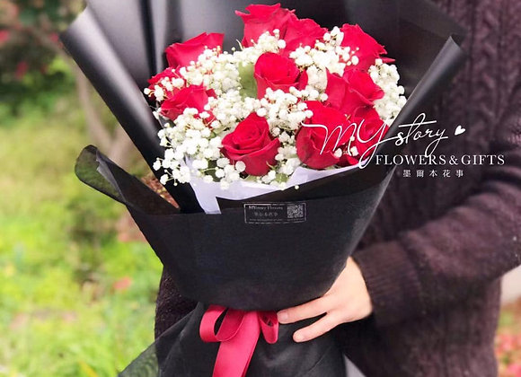 Premium Red Rose Bunch (6-12 stems)
