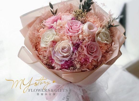 Premium Everlasting Flower Bouquet(LED Light)