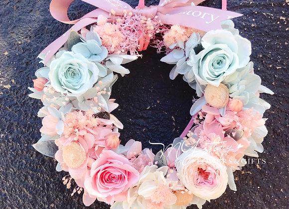 Mini Preserved Flower Wreath