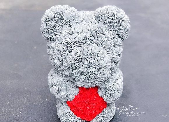 Rose Synthetic Bear MYstory Grey