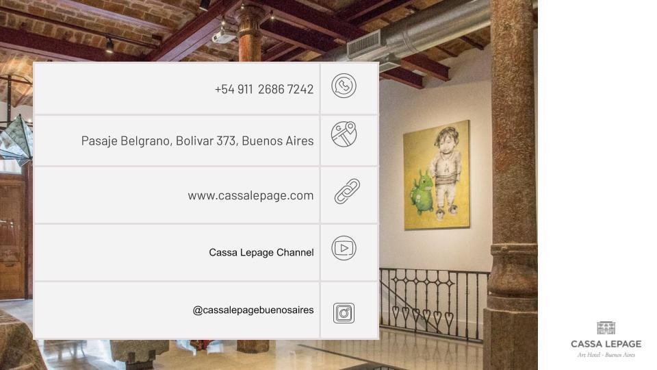 Canales de comunicación de Cassa Lepage