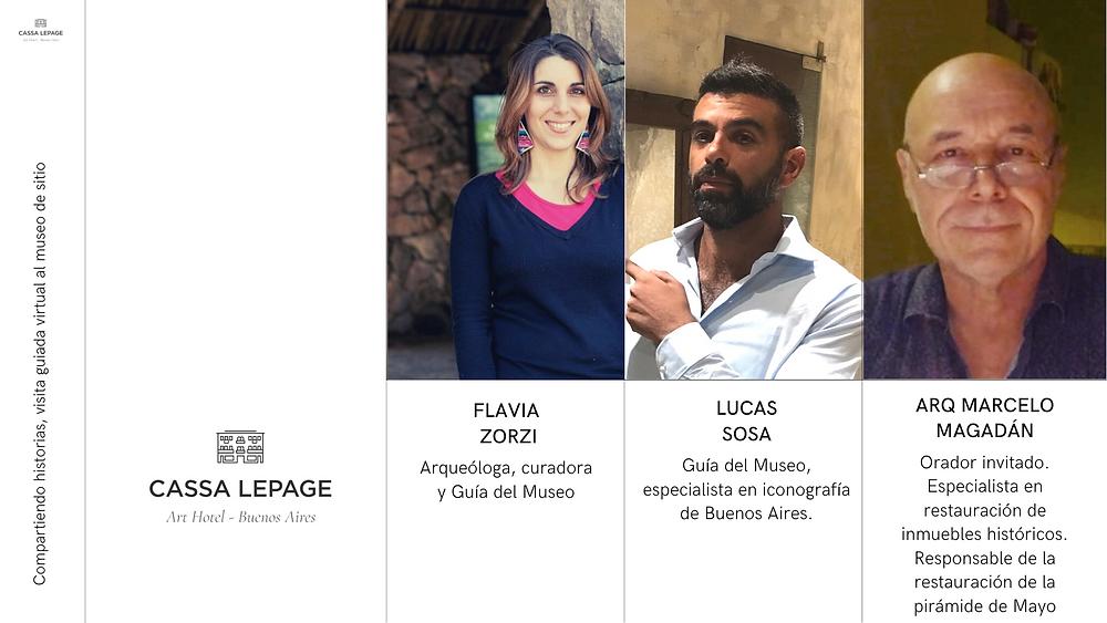 Flavia Zorzi, Lucas Sosa y el Arq Marcelo Magadán