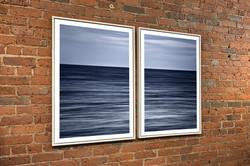 """Montauk Dawn Diptych"" ~ White Wood Float Frames"