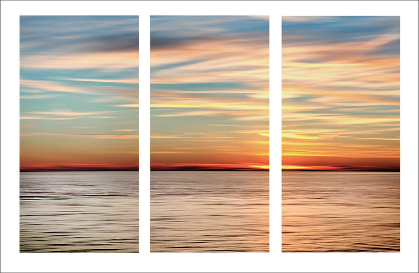 Silver Sunset Triptych