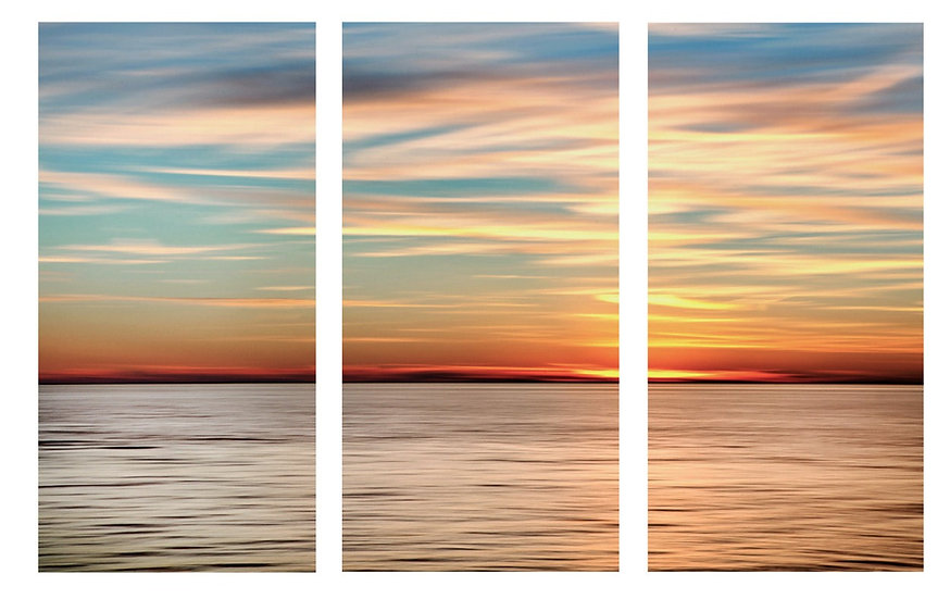 24-SILVER SUNSET TRIPTYCH