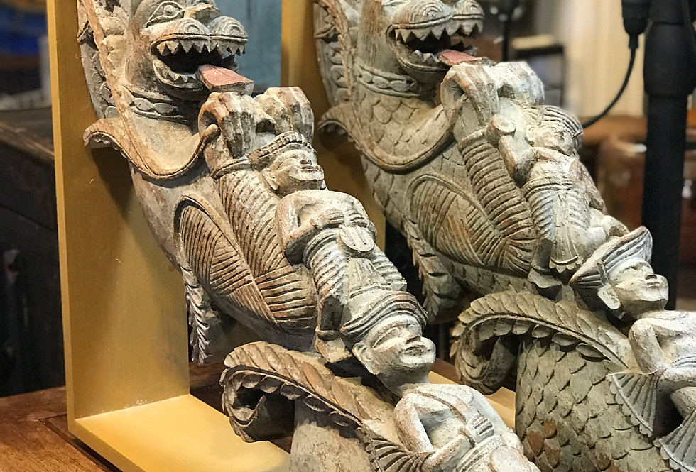 Antique Indonesian Architectural Carvings